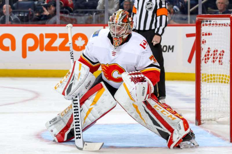 David Rittich of the Calgary Flames.