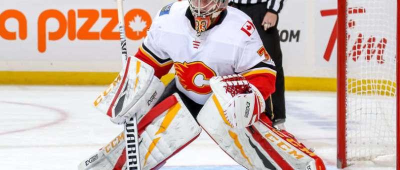 David Rittich of the Calgary Flames.