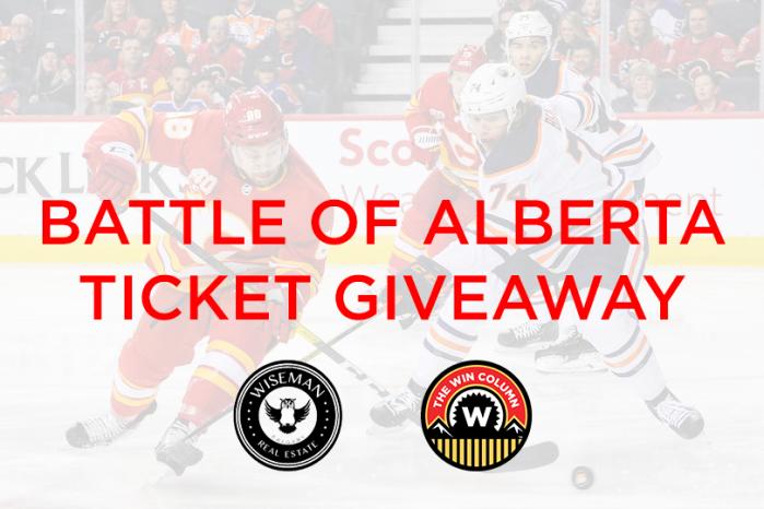 Calgary Flames Vs Edmonton Oilers Ticket Giveaway February 1st 2020 The Win Column