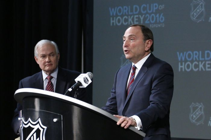 Gary Bettman and Donald Fehr speak ahead of the World Cup of Hockey 2016