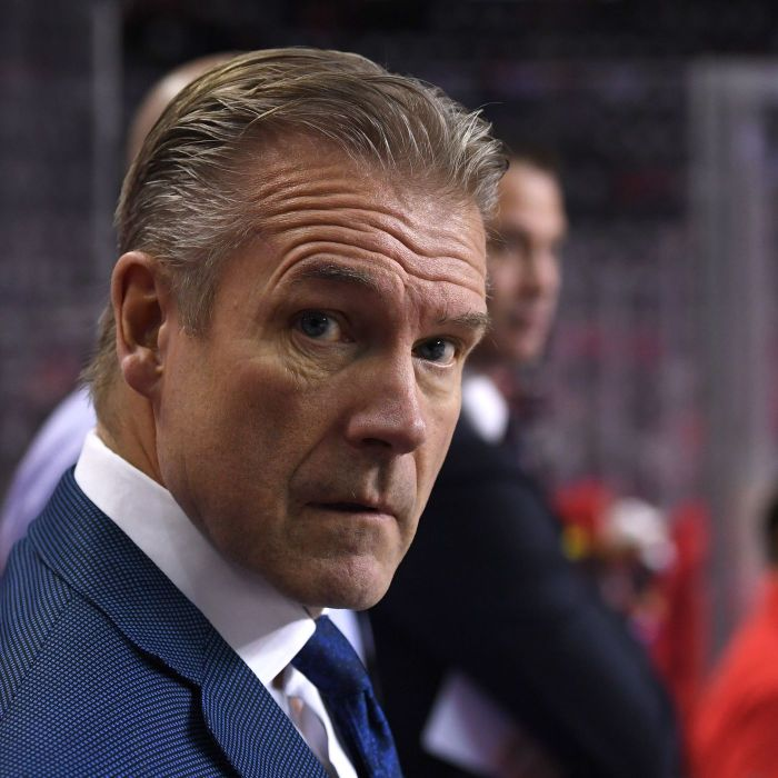 Calgary Flames interim head coach Geoff Ward